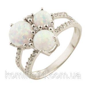 Серебряное кольцо с благородным белым опалом