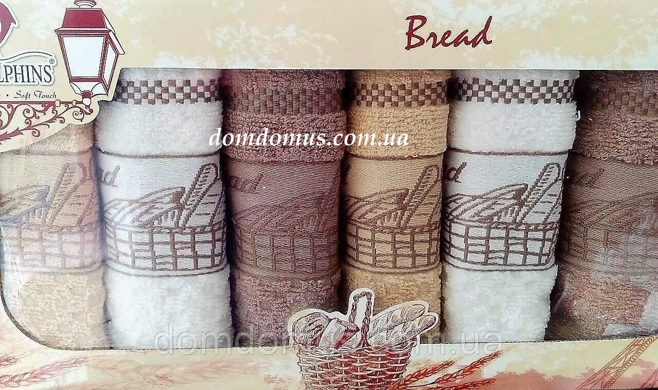 """Набір кухонних рушників """"Bread"""" 30*50 см TW DOLPHINS 6 шт., Туреччина"""