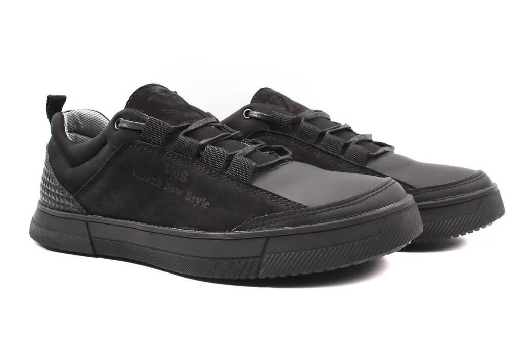 Туфли мужские Visazh нубук, натуральная кожа, цвет черный (мокасины, платформа, весна\осень)