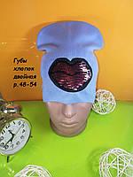 Детские весенние шапки на девочку с паетками