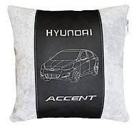 Автомобильная подушка в машину с изображением логотипом Hyundai хюндай