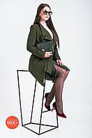 Женское пальто на поясе , фото 1