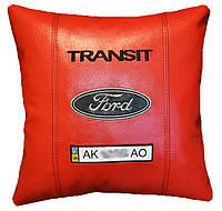 Сувенирная подушка с вышивкой логотипа форд Ford