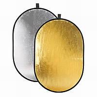 Отражатели света Золотой/Серебряный 2 в 1 150 x 200 см, фото 1