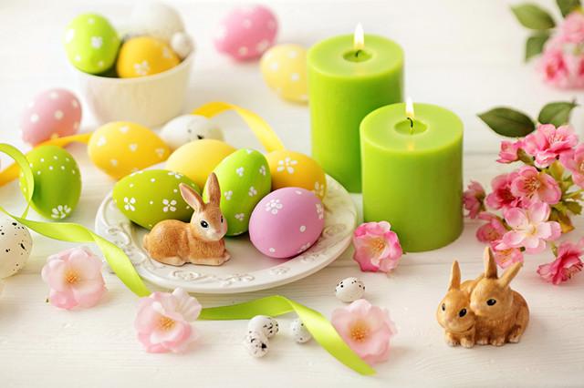 Тарелки для пасхи и яиц