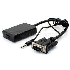 Конвертер VGA to HDMI 1080p + Audio, черный
