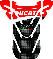 Наклейка на бак мотоцикла силиконовая Ducati unique