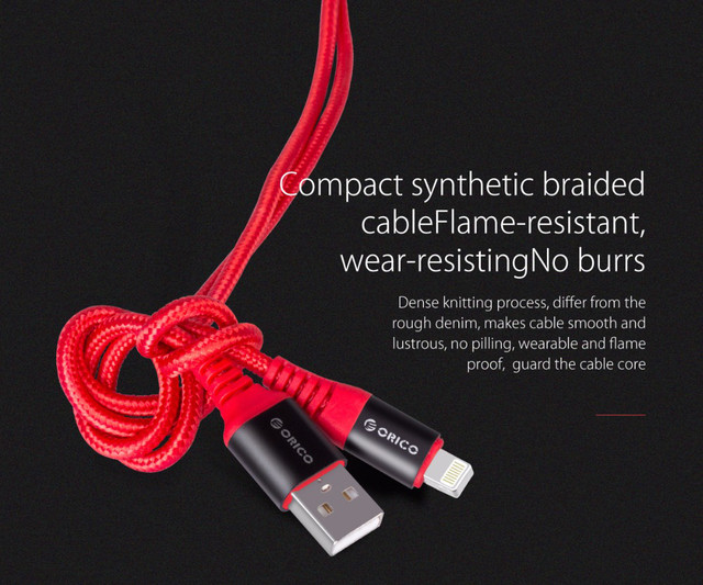 Кабель Lightning Orico LTK-10 для зарядки и передачи данных iPhone/iPad/iPod (1м)