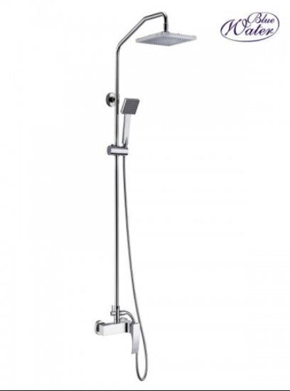 Настенный комплект с душевой головой и душем Blue Water liw - zkpn.400cхром