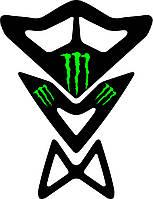 Наклейка на бак мотоцикла силиконовая Monster unique