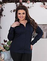 """Классическая женская рубашка на пуговицах """"Vision M"""" с длинным рукавом (большие размеры)"""