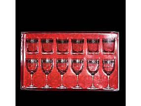 """Набор бокалы и стаканы """"TL31-163/405"""" рисунок """"Флорис"""" 12 предметный"""