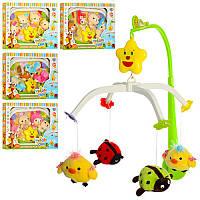 Карусель Мобиль на кроватку музыкальная с мягкими игрушками (подвески плюш) заводная, D089, D090, D091, D092,