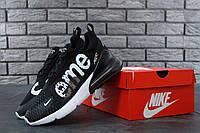 Кроссовки Nike Air Max 270 Supreme Black White (Найк Аир Макс 270 Суприм черно-белые), фото 1