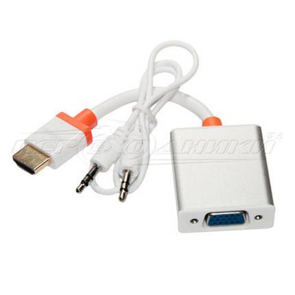 Конвертер HDMI to VGA +3.5 Audio +micro USB питание с поддержкой PS4, фото 2