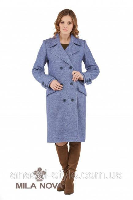 Пальто демисезонное кашемир синий