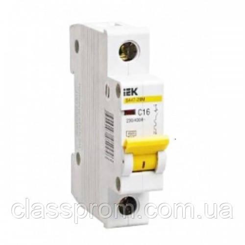 Автоматический выключатель ВА47-29 1P, 6 A, С IEK