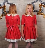 Праздничное платье ( Гипюр на атласе)
