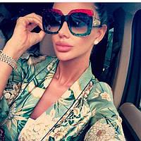 Женские шикарные очки с ярким ободком (разные цвета), фото 1