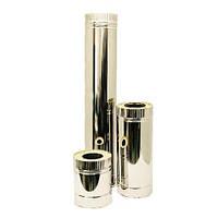 Труба для дымоходов из нержавеющей стали диаметром 130/200 0,8/0,6мм  AISI 304  нерж.нерж.