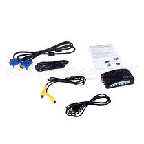 Конвертер VGA to AV RCA TV S-Video converter, фото 2
