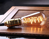 """Лампа Эдисона светодиодная ST64 4W диммируемая """"спираль"""", фото 1"""