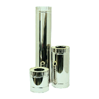 Труба двустенная дымоходная нерж / оцинк 110 1.0 304 0,25м термо