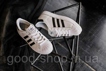 Мужские Кроссовки Adidas Superstar Classic (люкс копия)