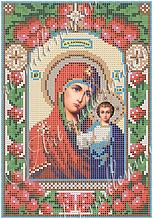 """Схема для вышивки бисером """"Казанская икона Божией Матери"""" R-0102"""