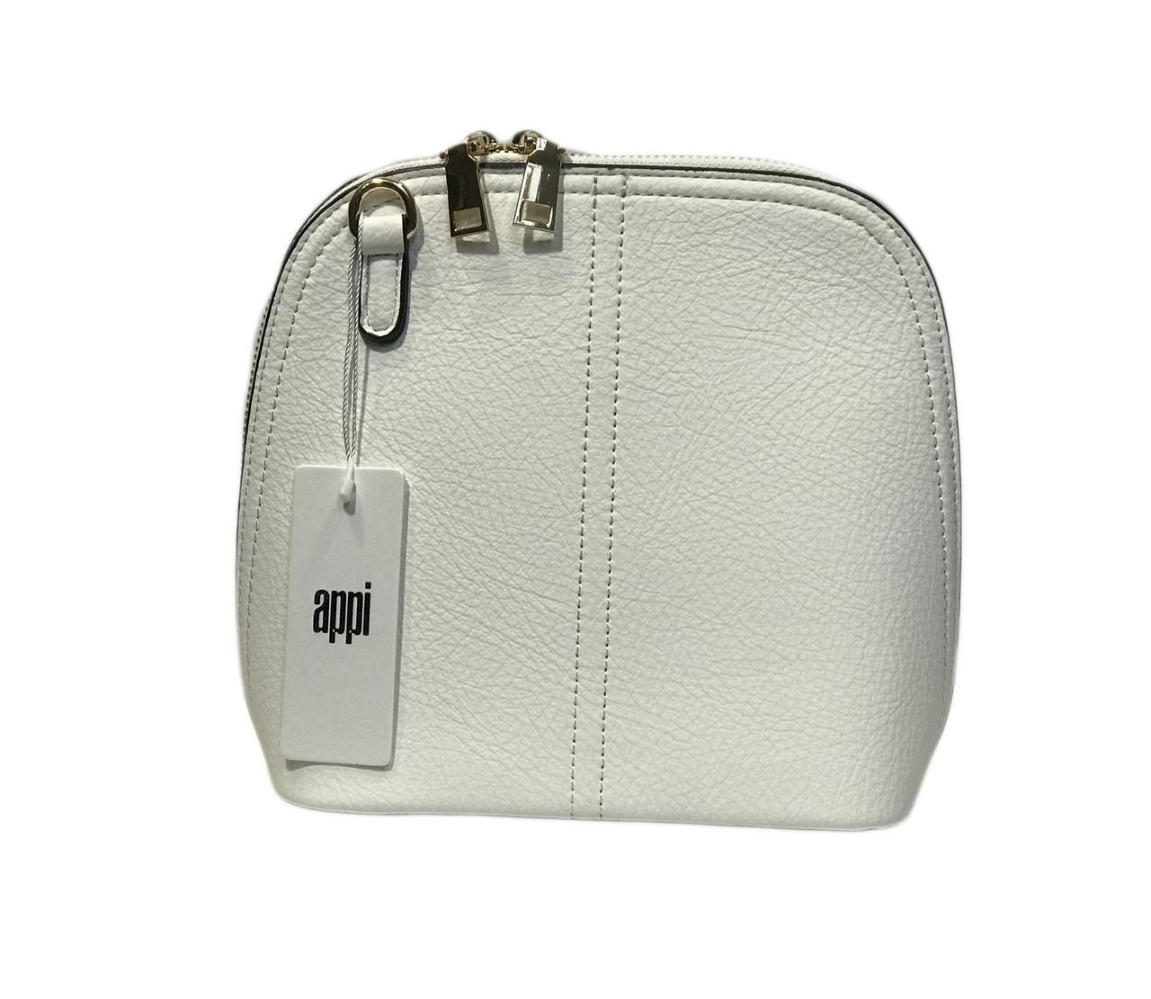 Белая мини сумка на плечо