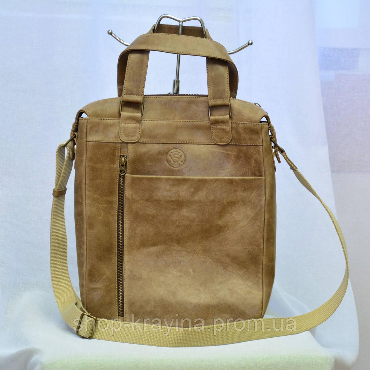 Кожаная мужская сумка VS152  А4