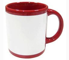 Цветная чашка с белым окном для печати Full Colour Mug-Navy Red 11OZ