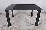 Стеклянный раскладной стол BRISTOL B 130/200*85 графит Nicolas (бесплатная адресная доставка), фото 7