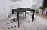 Стеклянный раскладной стол BRISTOL B 130/200*85 графит Nicolas (бесплатная адресная доставка), фото 2
