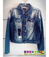 Пиджак джинсовый, синий, потертый, Ranbeeri