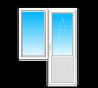 Балконный Блок Rehau Euro-Design 70  стеклопакет однокамерный энергосберегающий