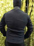 Куртка флисовая с накладками под рукавами, воротнике и плечах milt-11 синего цвета, фото 4