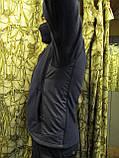 Куртка флисовая с накладками под рукавами, воротнике и плечах milt-11 синего цвета, фото 5