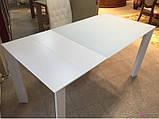 Стеклянный раздвижной кухонный стол BRISTOL B (130/200*85 см) белый Nicolas, фото 4