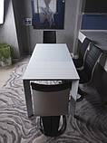 Стеклянный раздвижной кухонный стол BRISTOL B (130/200*85 см) белый Nicolas, фото 6