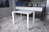Стеклянный раздвижной кухонный стол BRISTOL B (130/200*85 см) белый Nicolas, фото 2