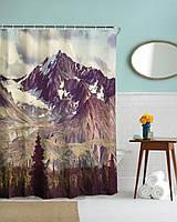 Занавеска для душа 78402 Шторка для ванной тканевая горы