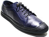 Летние мужские туфли Luciano Bellini 100407 синие, кожаные., фото 3