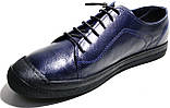 Летние мужские туфли Luciano Bellini 100407 синие, кожаные., фото 5