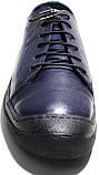 Летние мужские туфли Luciano Bellini 100407 синие, кожаные., фото 4