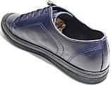 Летние мужские туфли Luciano Bellini 100407 синие, кожаные., фото 7