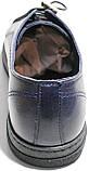 Летние мужские туфли Luciano Bellini 100407 синие, кожаные., фото 8