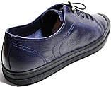 Летние мужские туфли Luciano Bellini 100407 синие, кожаные., фото 9