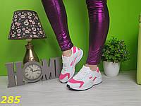 Кроссовки хуарачи бело-розовые, фото 1