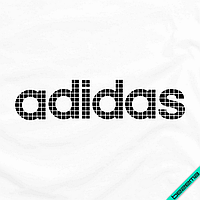 Декор на ткань логотип [7 размеров в ассортименте] (Тип материала Матовый)